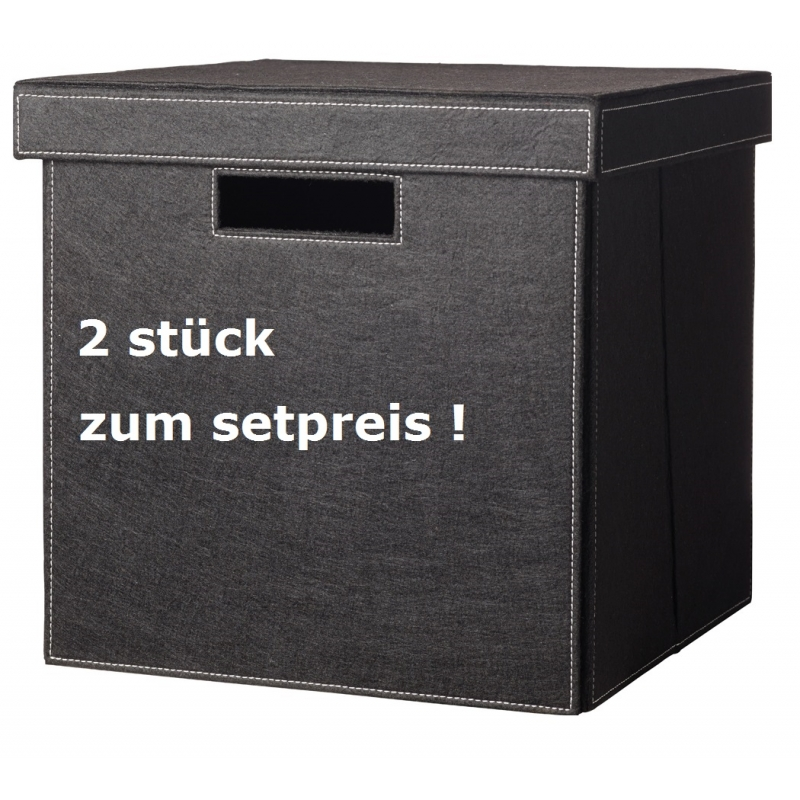 cinas dk tommy 2er set aufbewahrungsboxen mit deckel zum. Black Bedroom Furniture Sets. Home Design Ideas